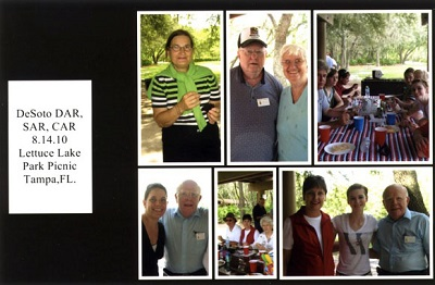 collage of a chapter picnic in Aug. 2010